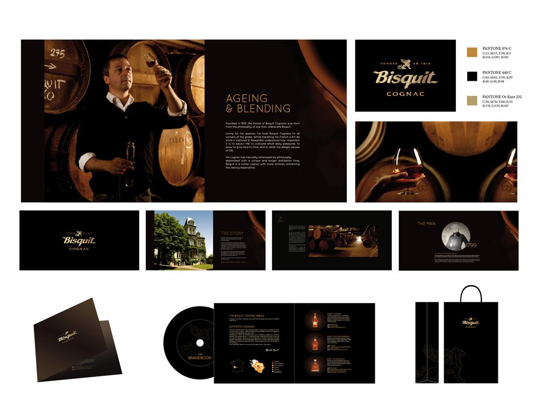 Brandbook pour le Cognac Bisquit