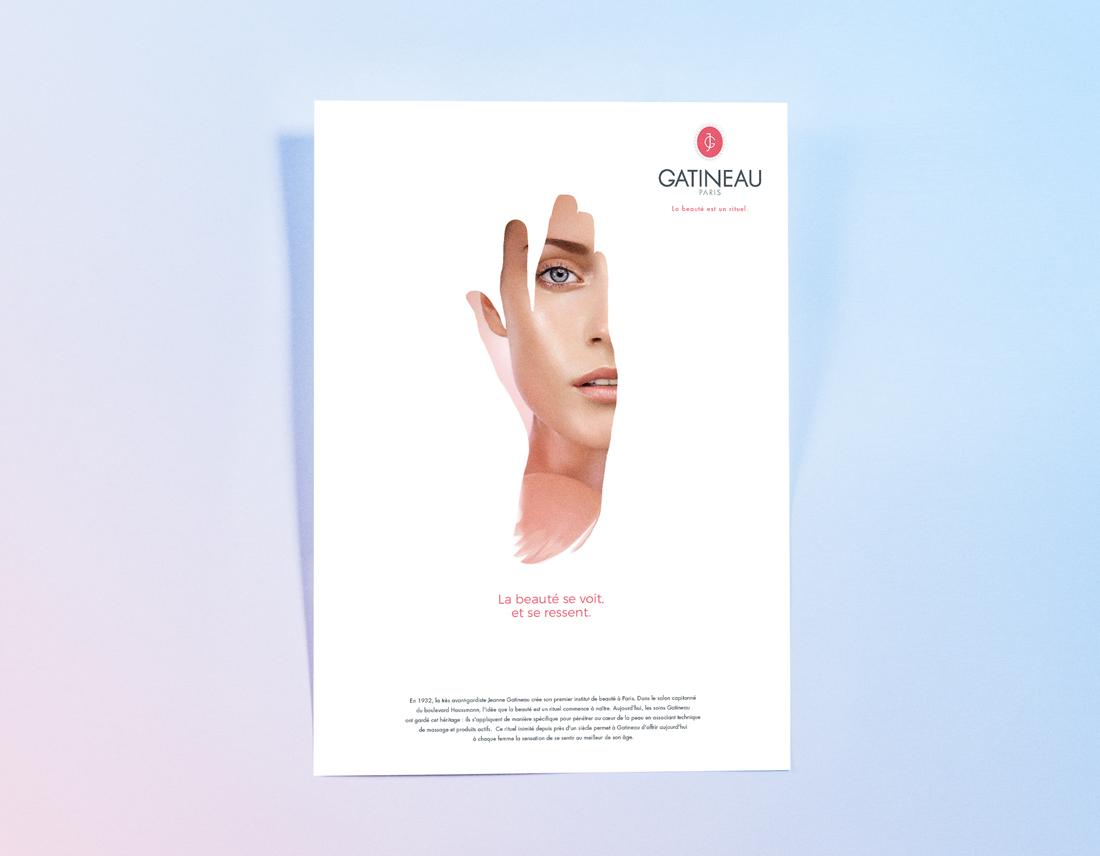 La beauté est un rituel. Visuel concept pour Gatineau.
