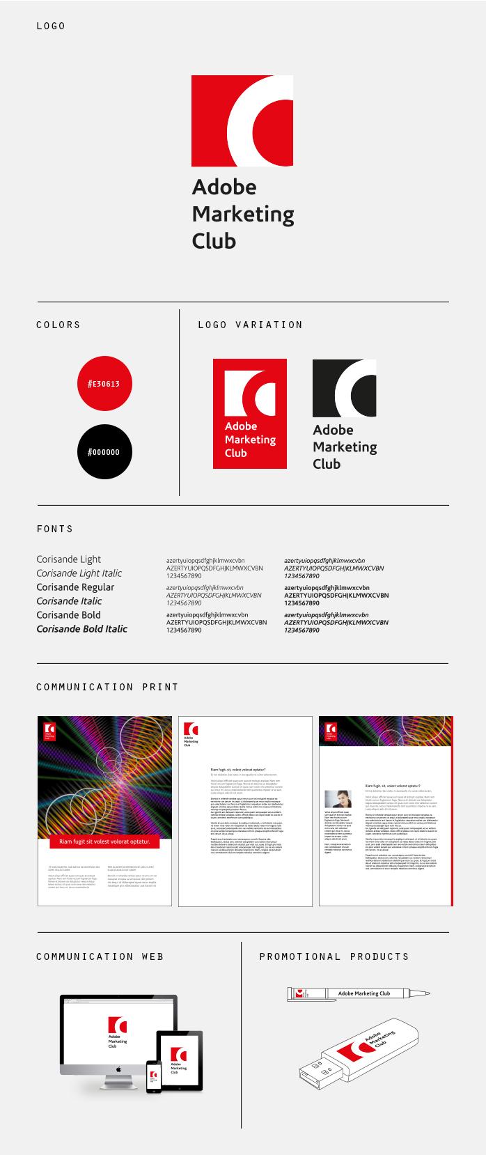 Charte graphique Adobe Marketing Club