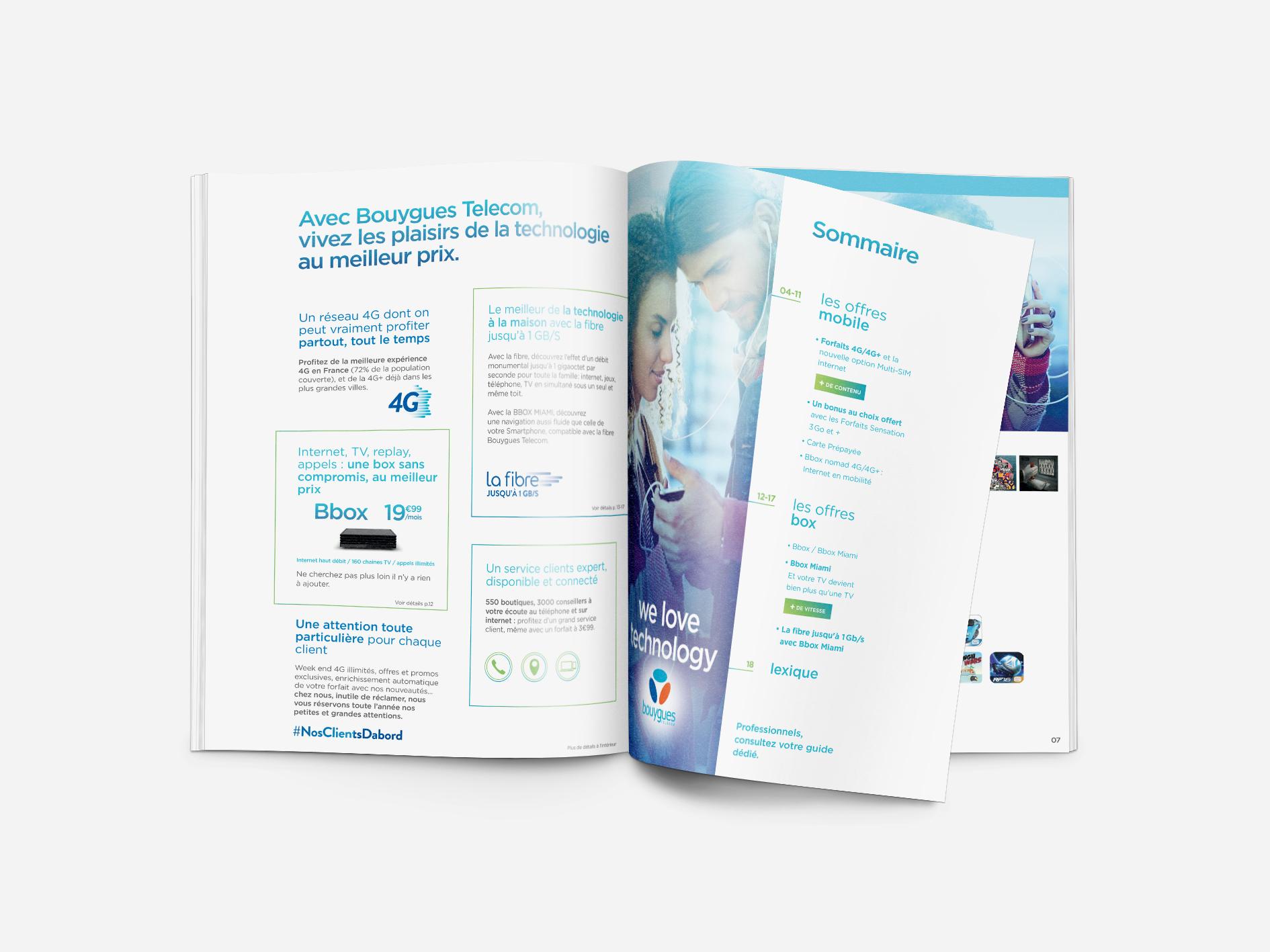 Direction artistique du Guide consommateur Bouygues Telecom