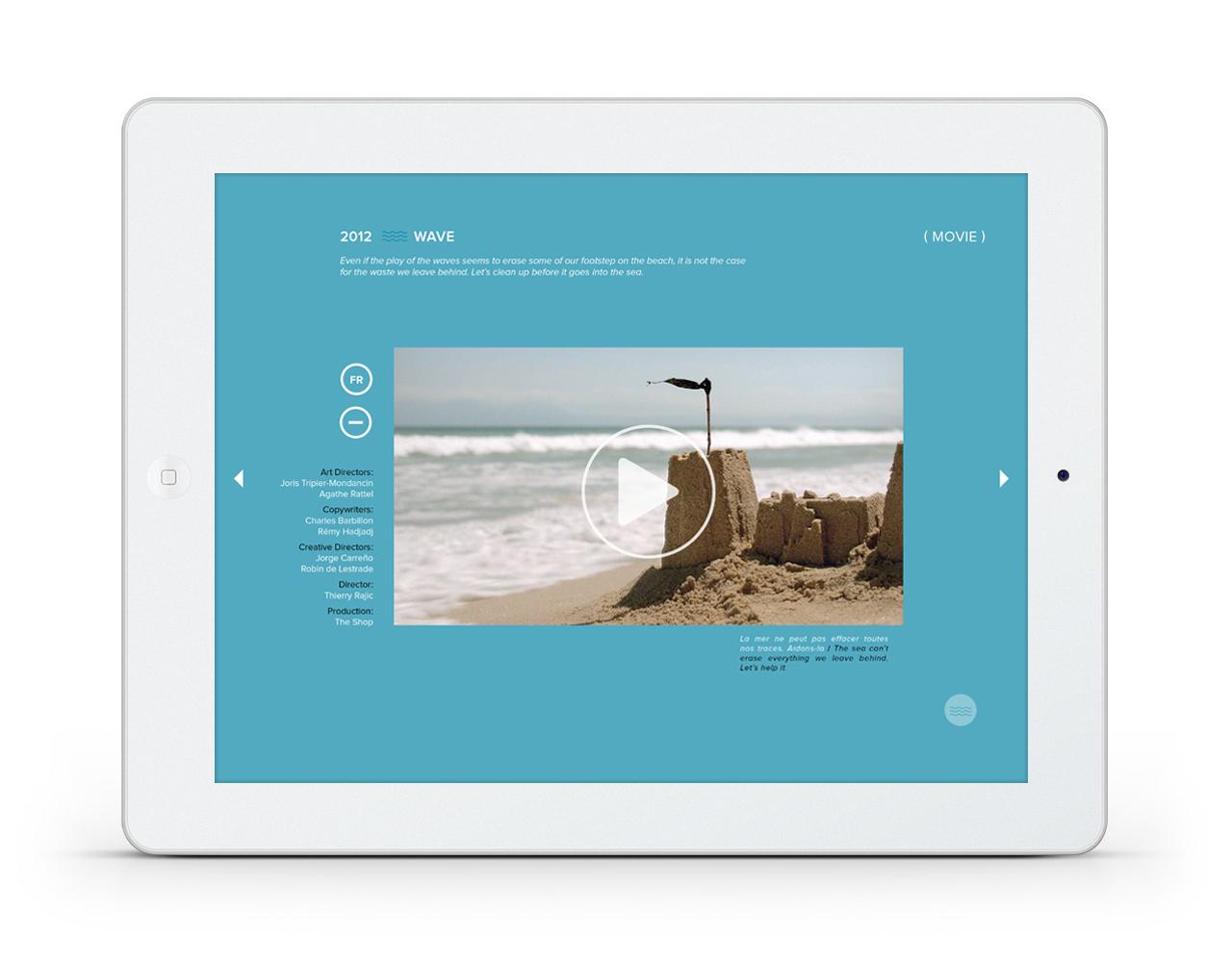 Application. 10 ans de publicité pour sauver les océans.