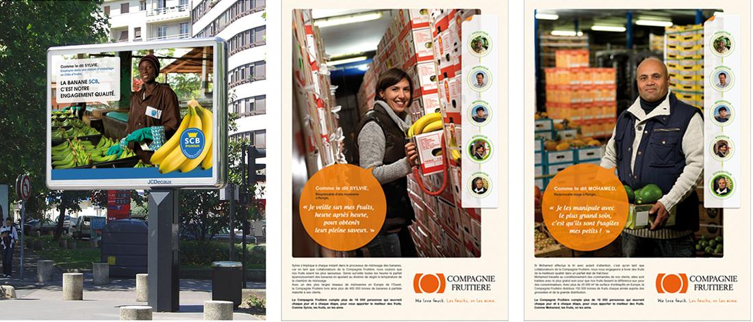 Campagne de communication pour la Compagnie Fruitière