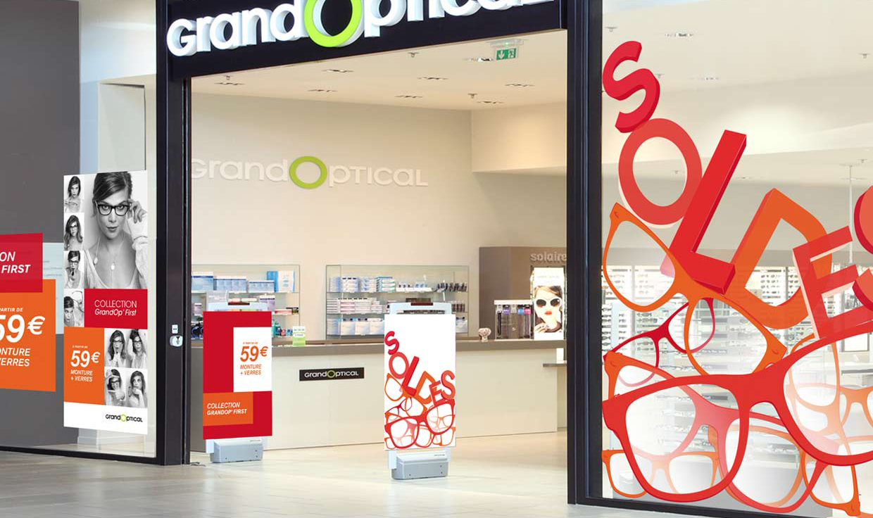 scénographie magasin opération marketing Grand optical