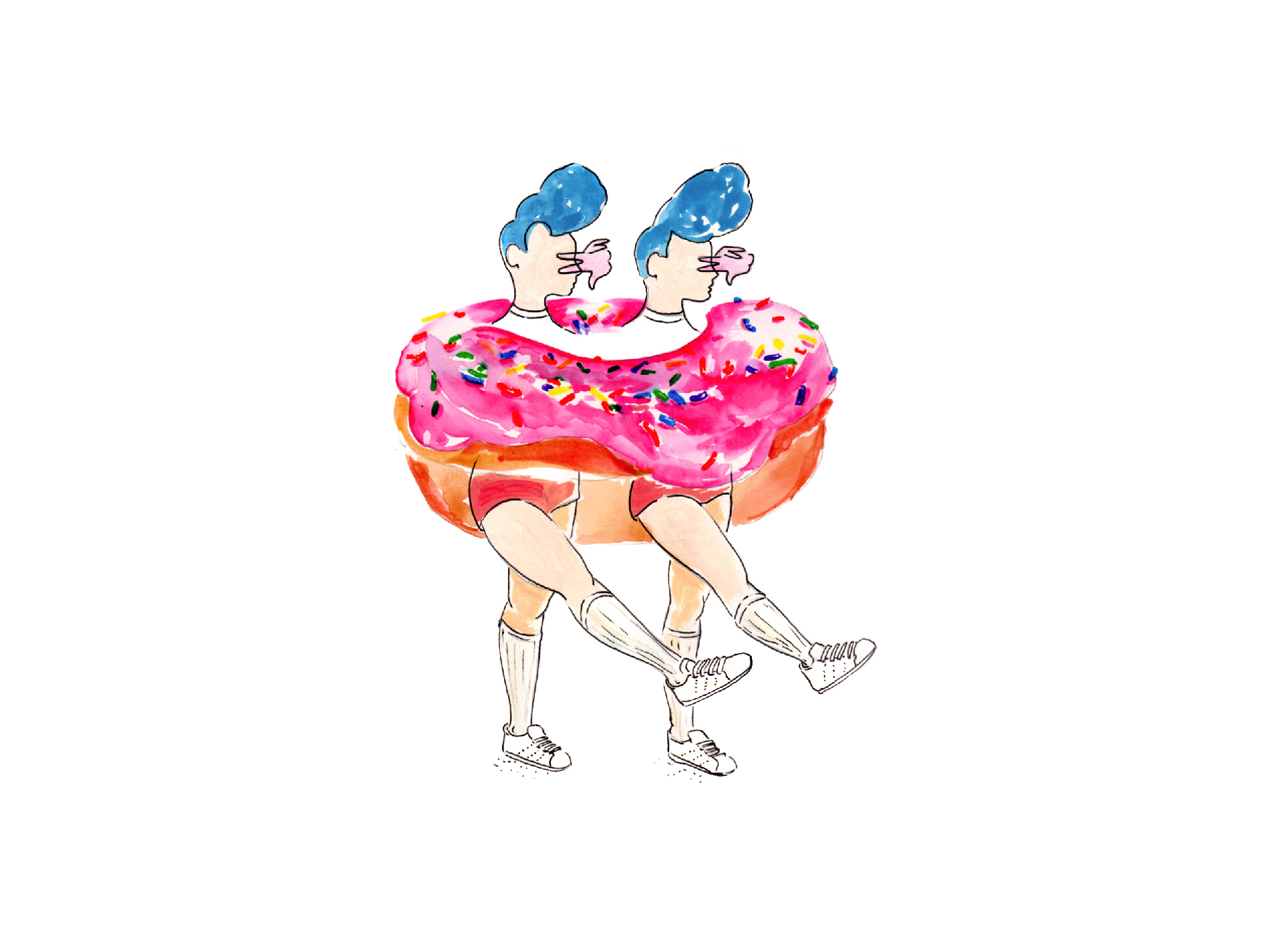 "Illustration des ""Donut girls"" par Paludana"