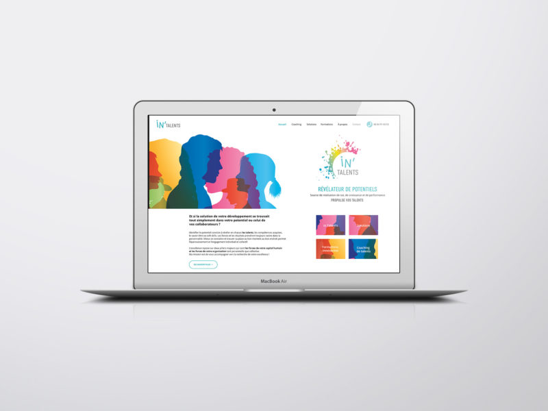 Home page Site web In'talent